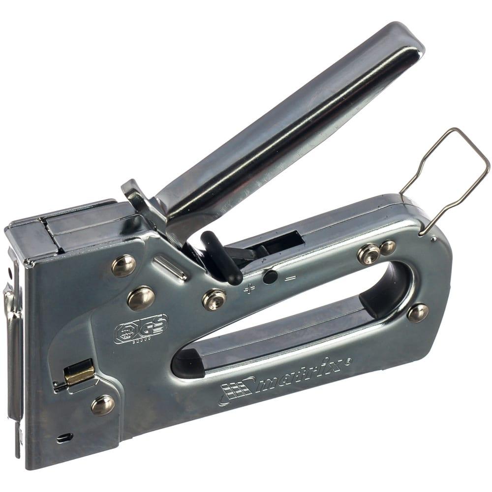 Мебельный металлический регулируемый степлер тип скобы 53, 6-14 мм matrix professional 40913