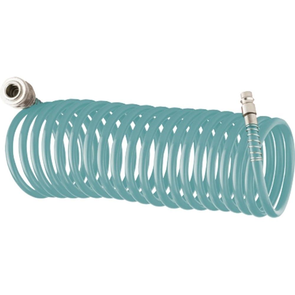 Купить Полиуретановый спиральный шланг с быстросъемными соединениями (6х8 мм; 10 м)stels 57007