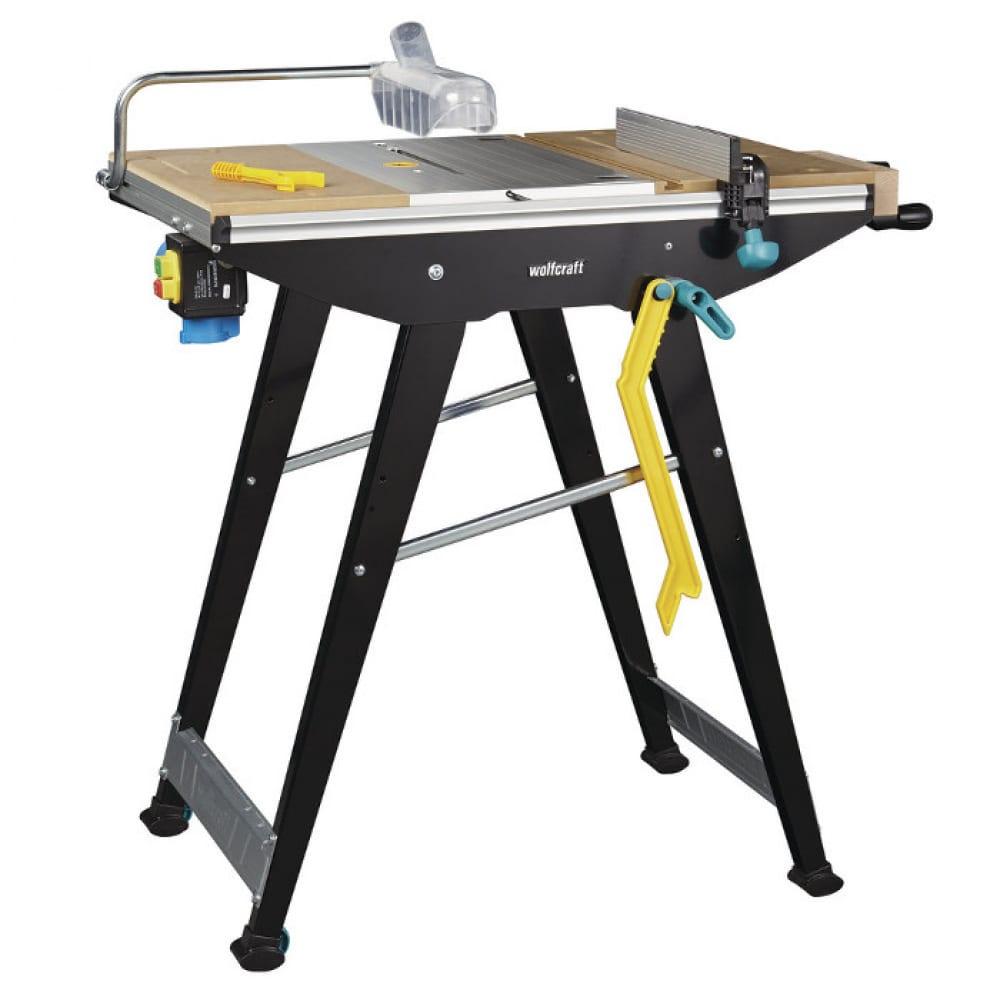 Многофункциональный складной рабочий стол для циркулярной пилы/лобзика/фрезера master cut 1500 wolfcraft 6906000