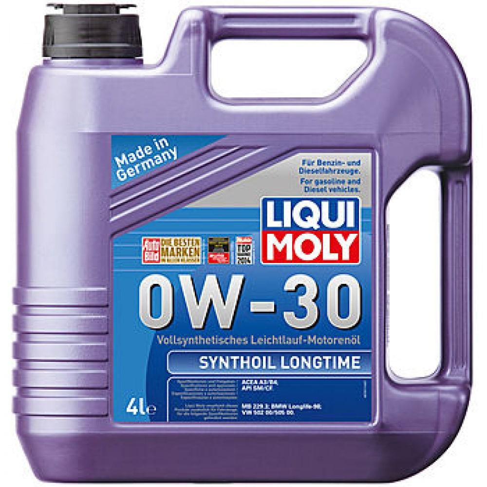 Купить Синтетическое моторное масло liqui moly synthoil longtime 0w-30 cf/sm a3/b4 4л 7511