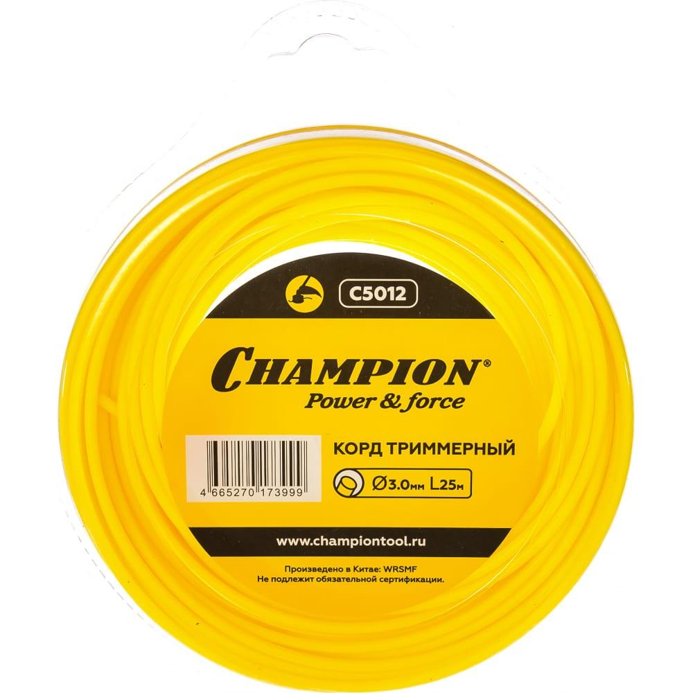 Купить Корд триммерный (3.0 мм; 25 м; круг) champion c5012