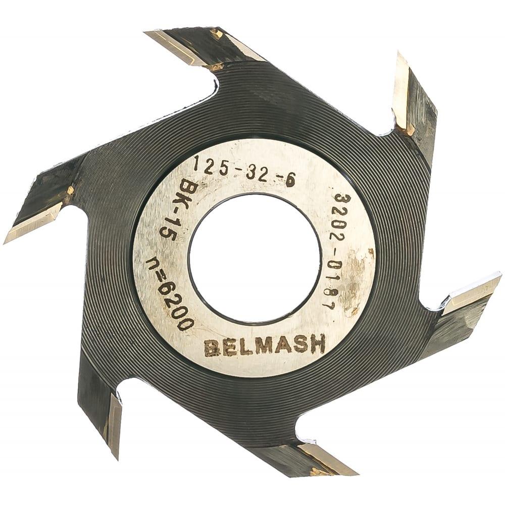 Фреза пазовая (125х32/30х6 мм) белмаш rf0013a
