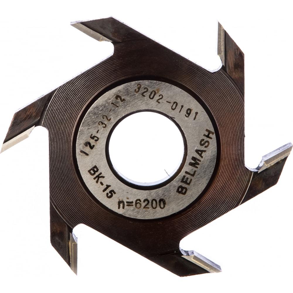 Фреза пазовая (125х32х12 мм) белмаш rf0016a