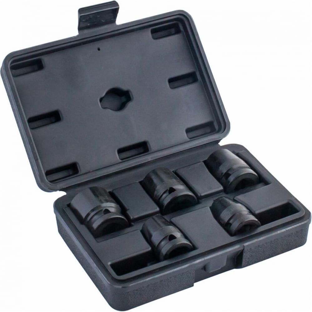 Набор головок ударных 6-ти гранных n19k-005 (5 шт; 1/2``) norgau 064041805