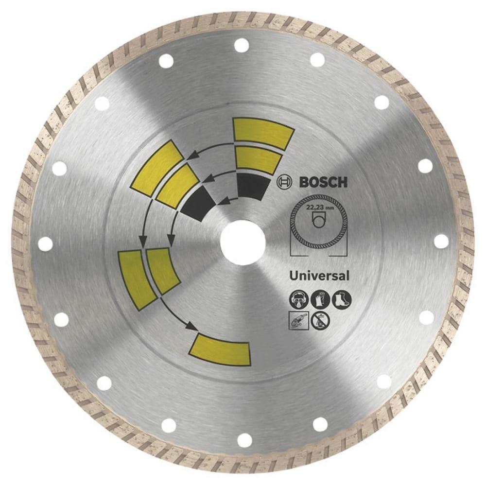 Купить Диск алмазный универсальный turbo(125х22.2 мм)bosch 2609256408