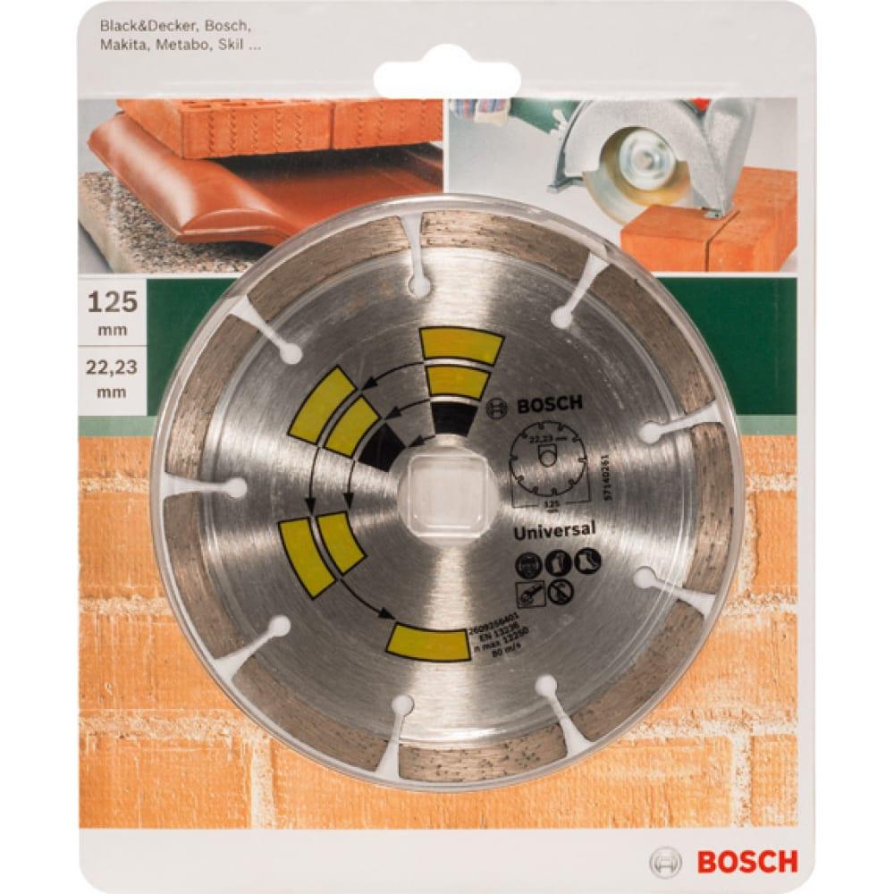 Купить Диск алмазный универсальный (125х22.2 мм) bosch 2609256401