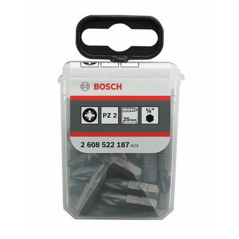 Бита (pz2; 25 мм; 25 шт.) bosch 2608522187