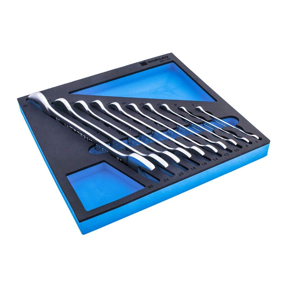 Набор рожковых гаечных ключей norgau n6-100 10 шт 060107810