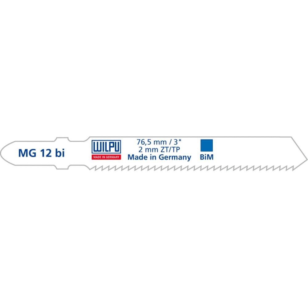 Пилка по металлу mc 12 bi (5 шт; 100х7.8х1.27 мм; 75 мм; 10 tpi; bim) wilpu 250100005