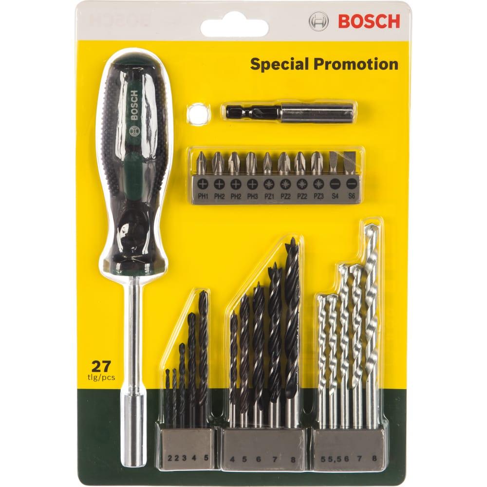 Набор сверл и насадок-бит 27 предметов bosch 2607017201