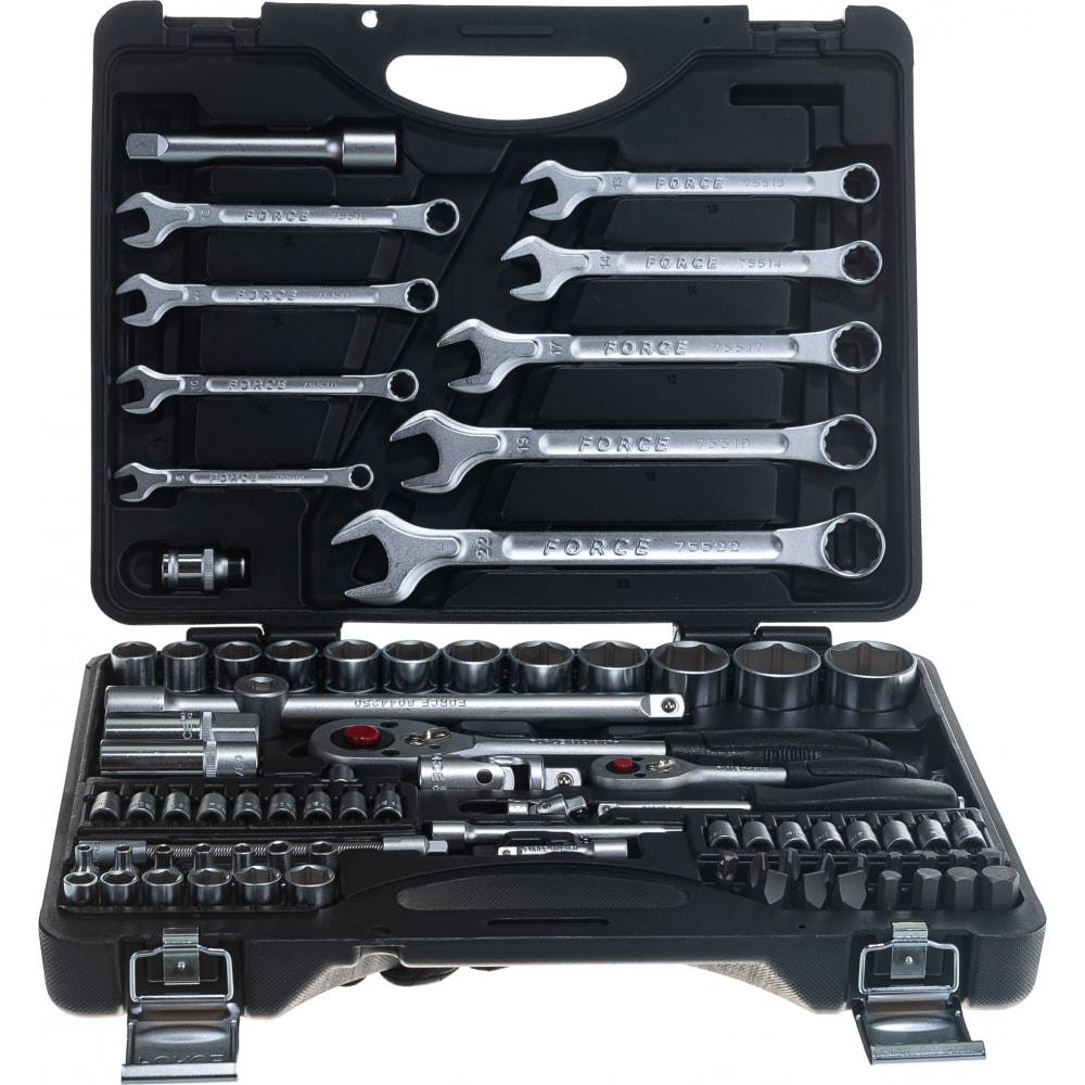 Набор инструментов force 82 предмета 6 гранные 1/4, 1/2 4821r-5