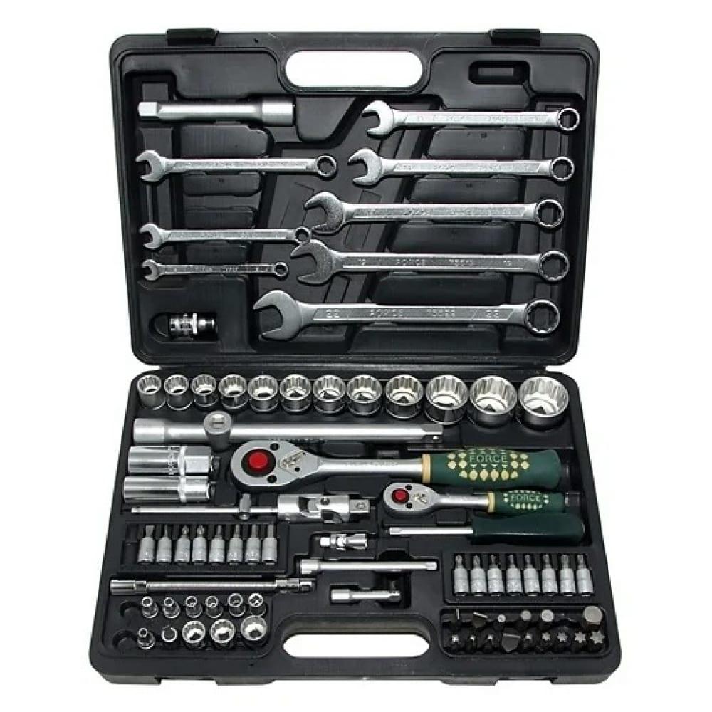 Набор инструментов force 82 предмета 12 гранные головки 1/4, 1/2 4821r-9