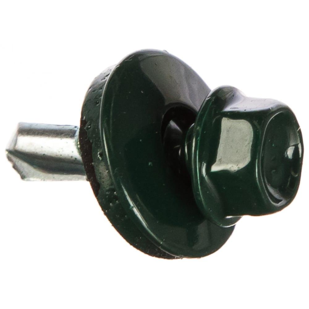 Купить Кровельный саморез tech-krep кр сверло 5, 5х19 ral-6005 тёмно-зеленый 60 шт, коробка с окном 125701