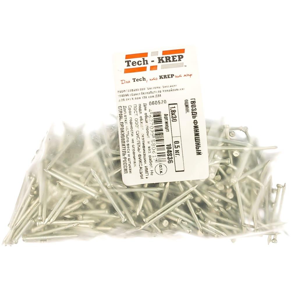 Купить Финишный оцинкованный гвоздь 1.8х30, 0.5кг (781 шт.) - пакет tech-krep 104836