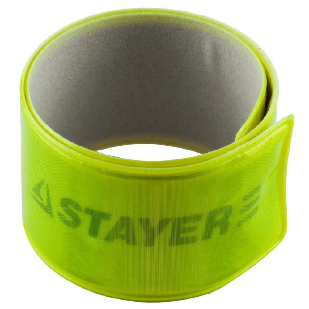 Купить Светоотражающий, самофиксирующийся браслет stayer master желтый 11630-y