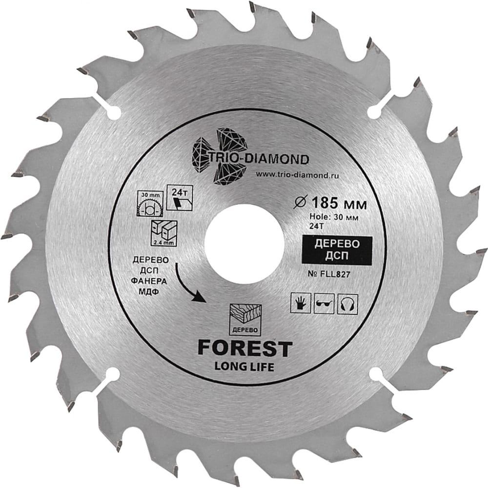 Купить Диск пильный по дереву (185х30/20/16 мм; 24т) trio-diamond fll827