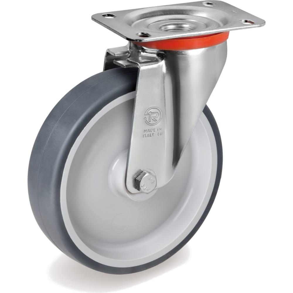 Купить Колесо с вращающейся опорой и пластиной крепления (100 мм; 100 кг) tellure rota 714202