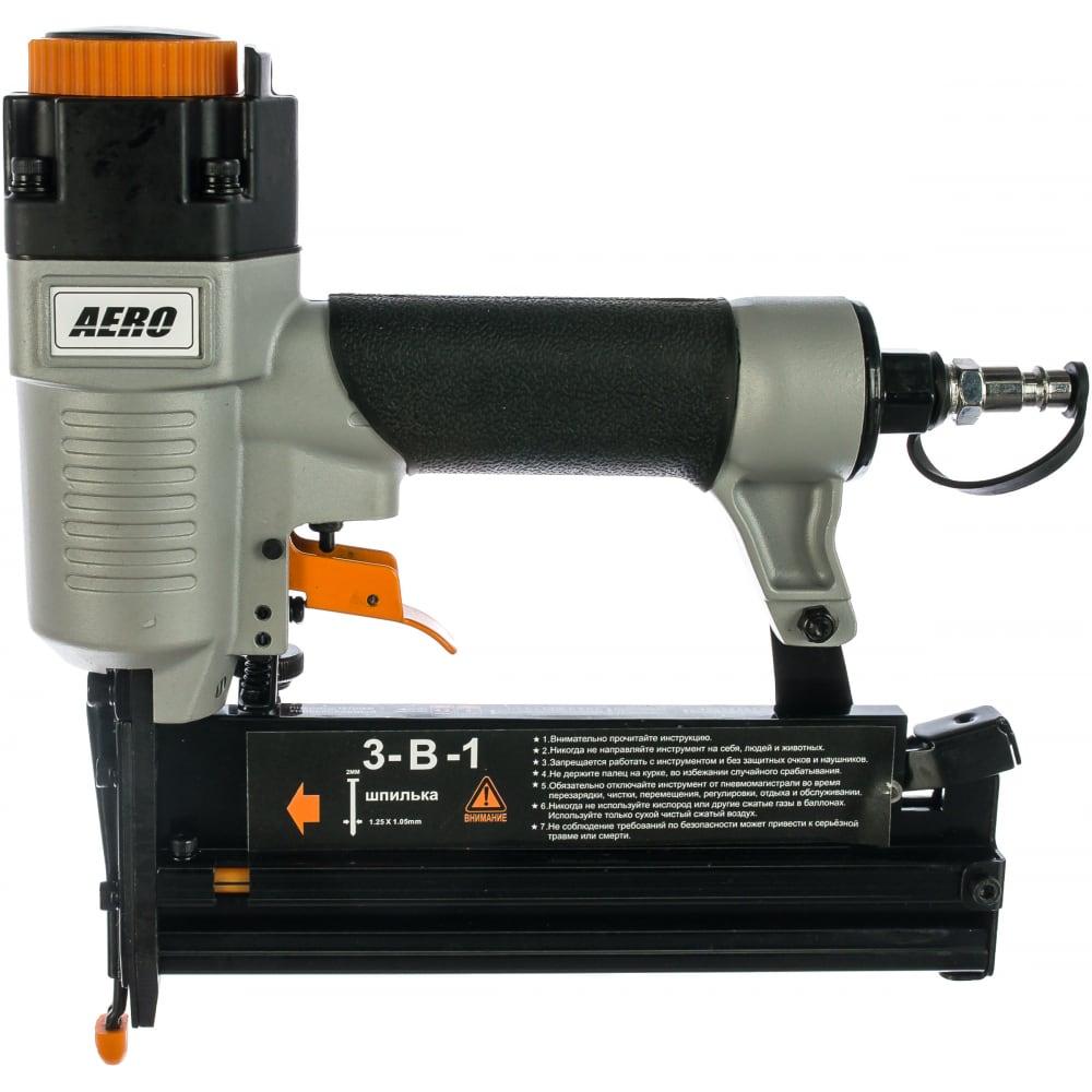 Универсальный пневмостеплер для гвоздей и шпилек foxweld aero 5752