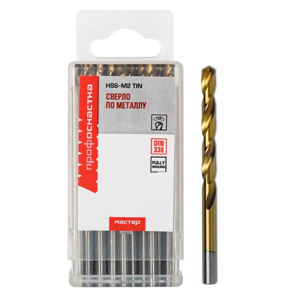 Купить Сверло по металлу эксперт №371 (10 шт; 4.4 мм; p6m5 hss m2 tin; din 338) профоснастка 30202051