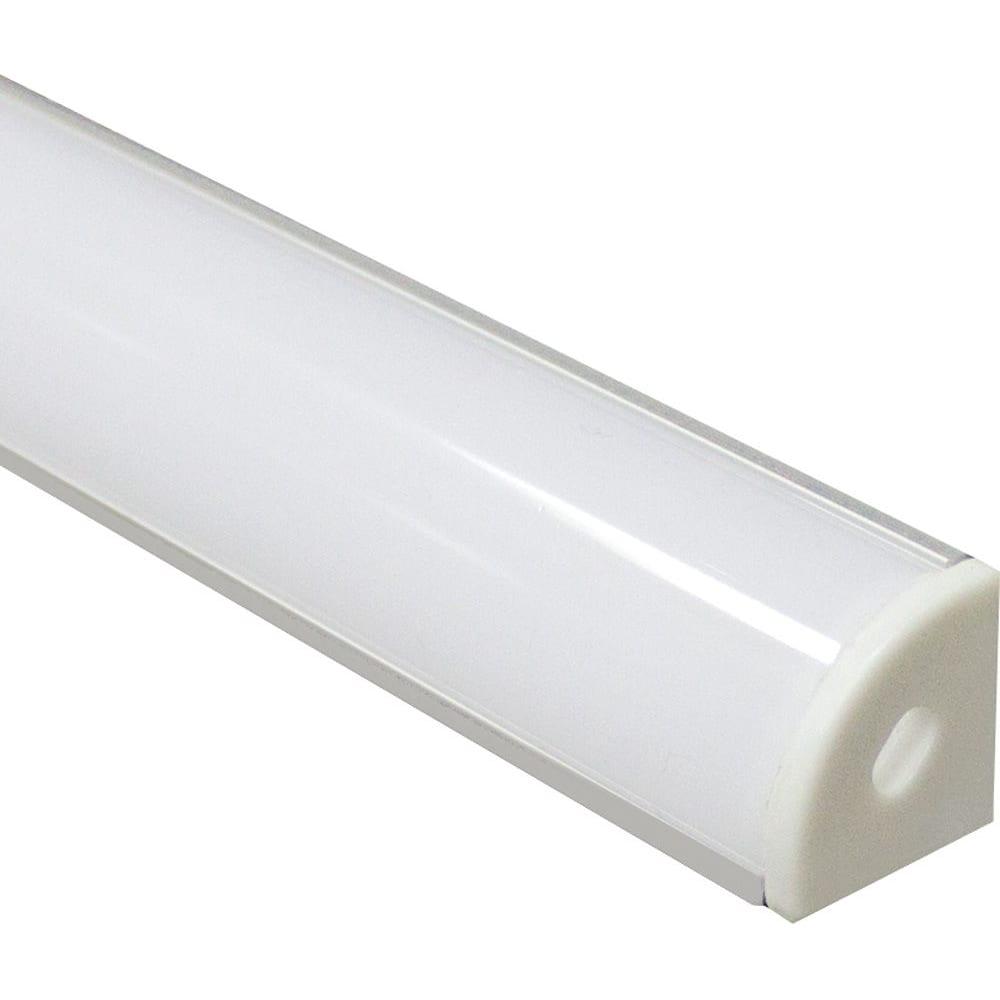 Купить Алюминиевый угловой круглый профиль, серебро feron cab280 10299
