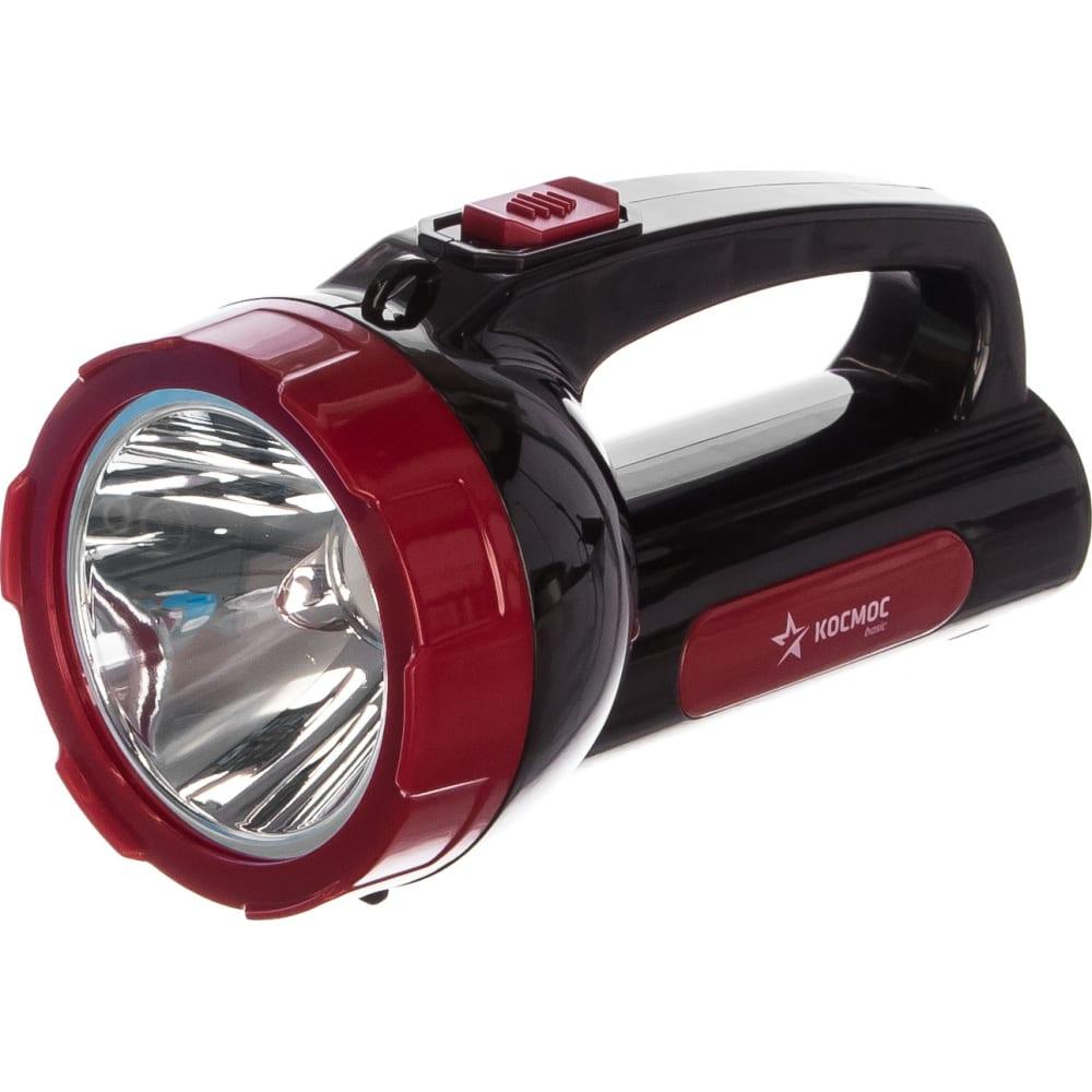 Купить Светодиодный аккумуляторный фонарь 1х5вт led зарядка 220в космос экономик kocac9105wled 452439