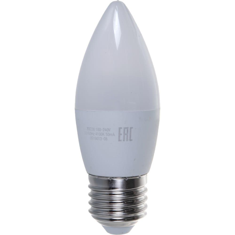 Купить Лампа led candle 8w e27 4100k gauss elementary 33228