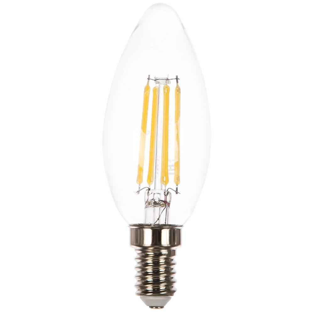 Лампа led candle e14 5w 4100к gauss filament 103801205