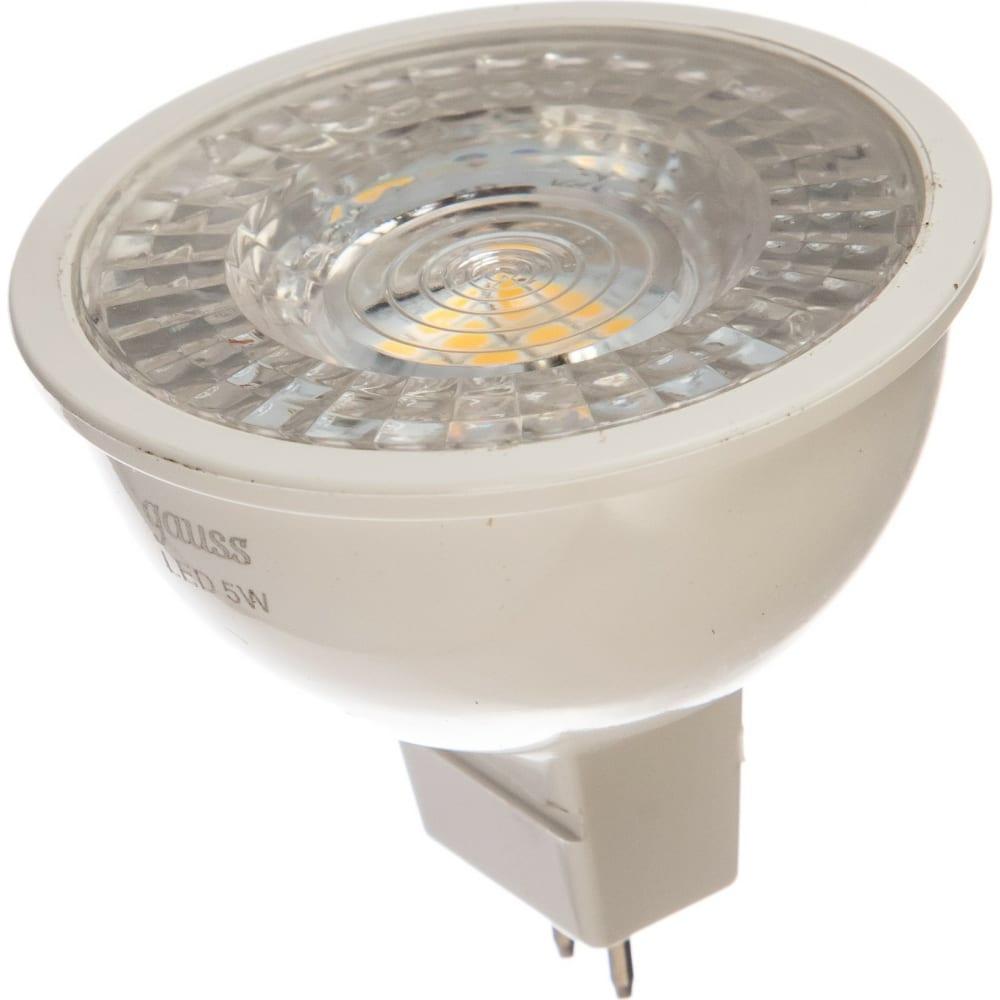 Диммируемая лампа led mr16 gu5.3-dim 5w 4100k gauss 101505205-d