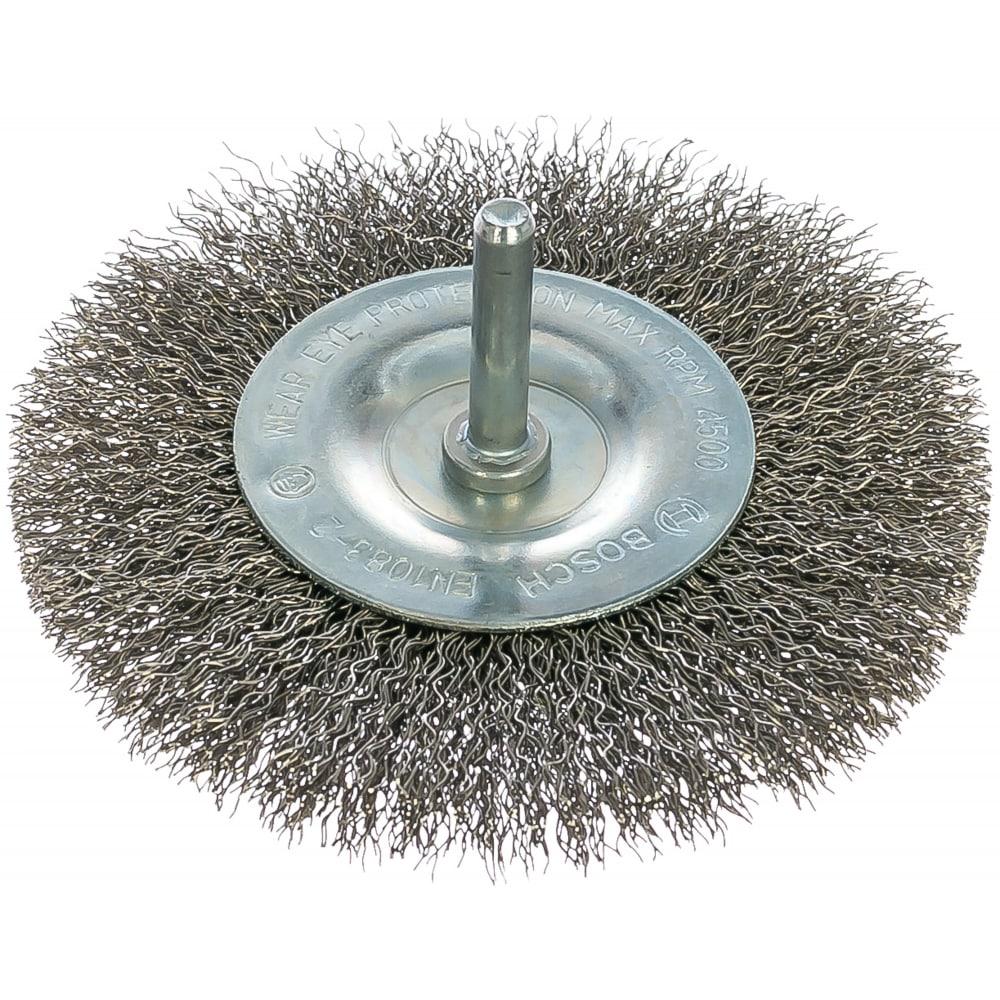 Купить Щетка дисковая (100 мм; хвост 6 мм) inox bosch 2608622124