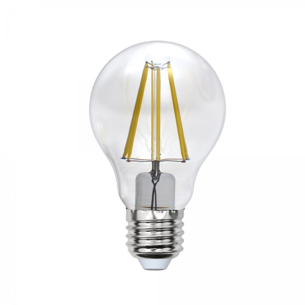 Светодиодная лампа uniel led-a60-8w/ww/e27/cl pls02wh ul-00000198