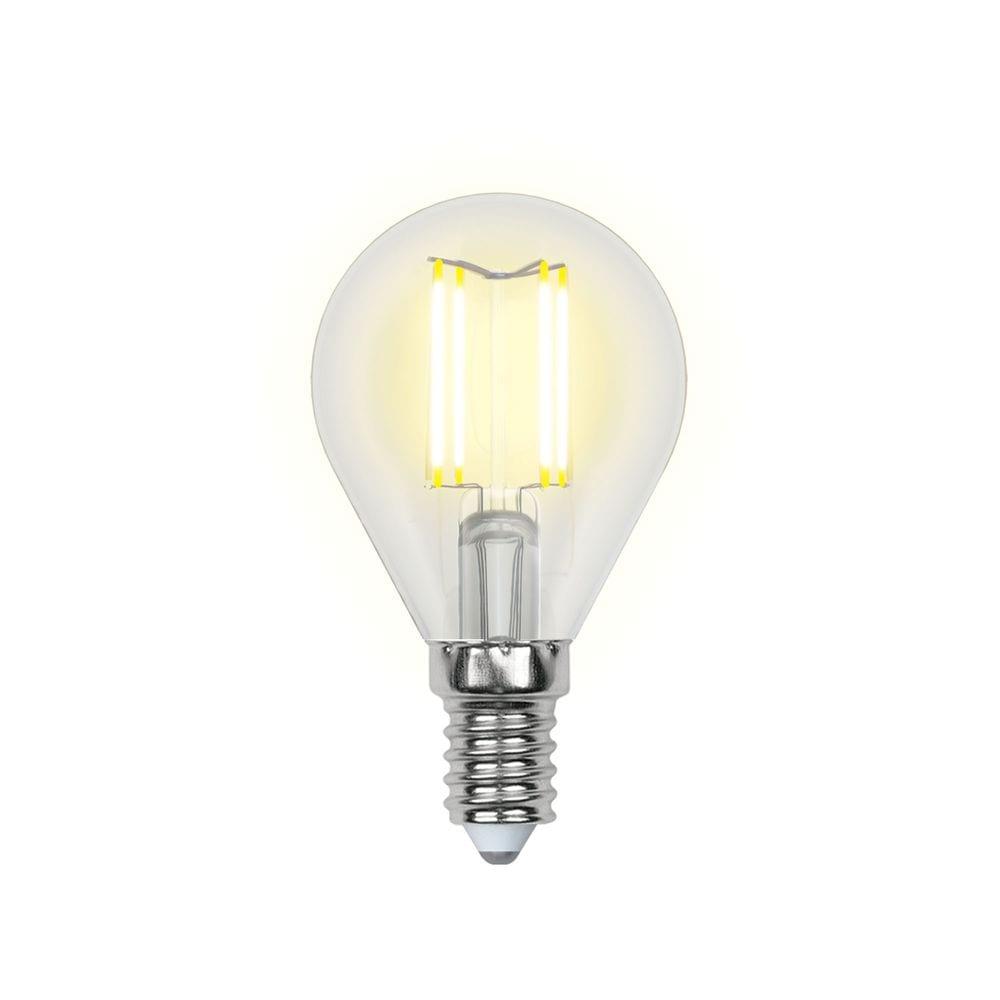 Светодиодная лампа uniel led-g45-6w/ww/e14/cl pls02wh ul-00000197