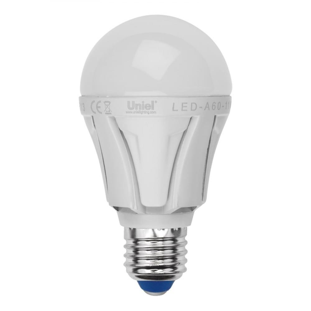 Светодиодная лампа uniel led-a60 8w/nw/e27/fr plp01wh ul-00001523