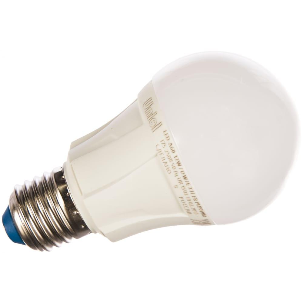 Светодиодная лампа uniel led-a60 12w/dw/e27/fr plp01wh ul-00002005