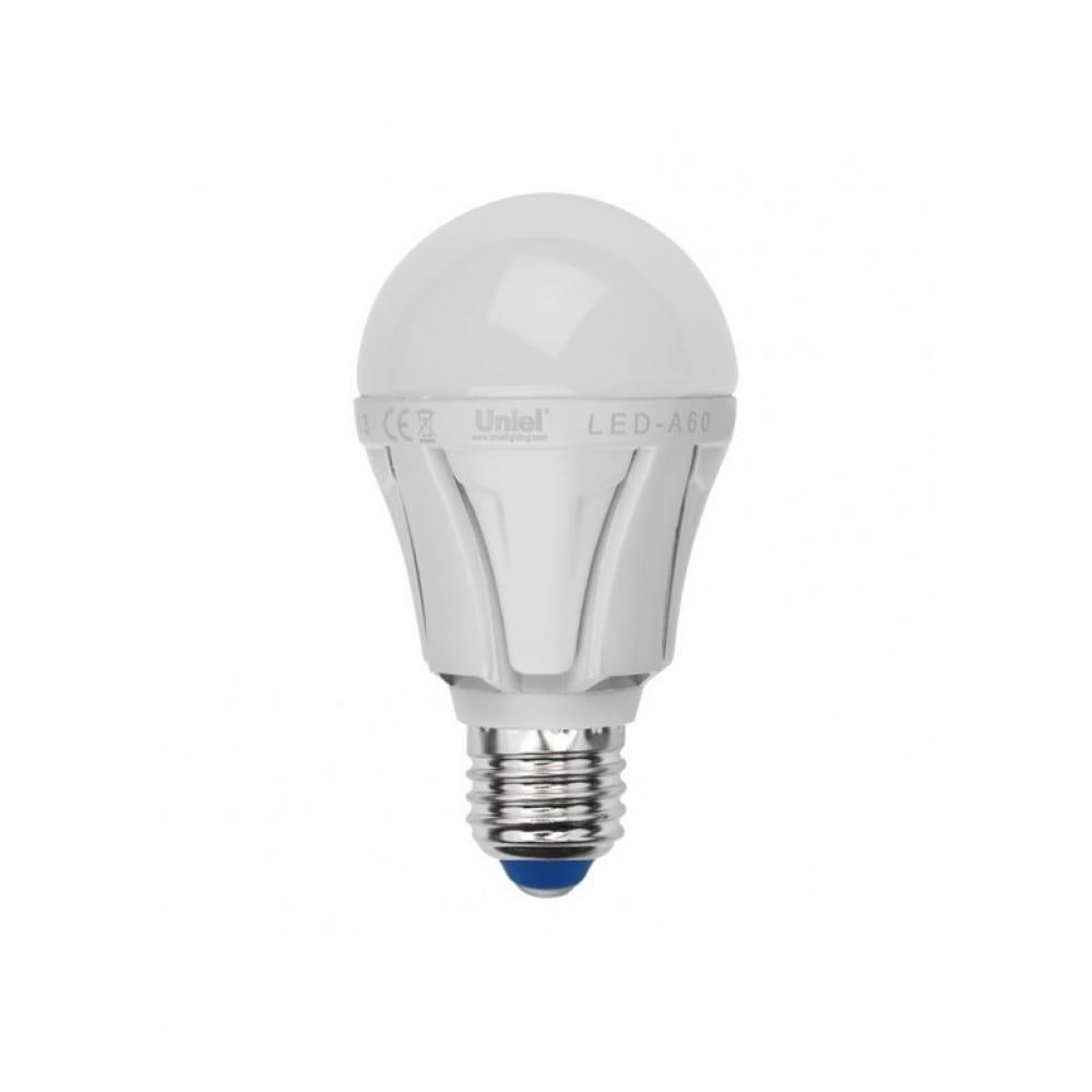 Светодиодная лампа uniel led-a60 10w/ww/e27/fr plp01wh ul-00001524