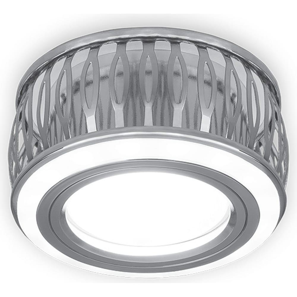 Светильник, круг, хром/белый, gu5.3, 3w, led 3000k gauss backlight bl095
