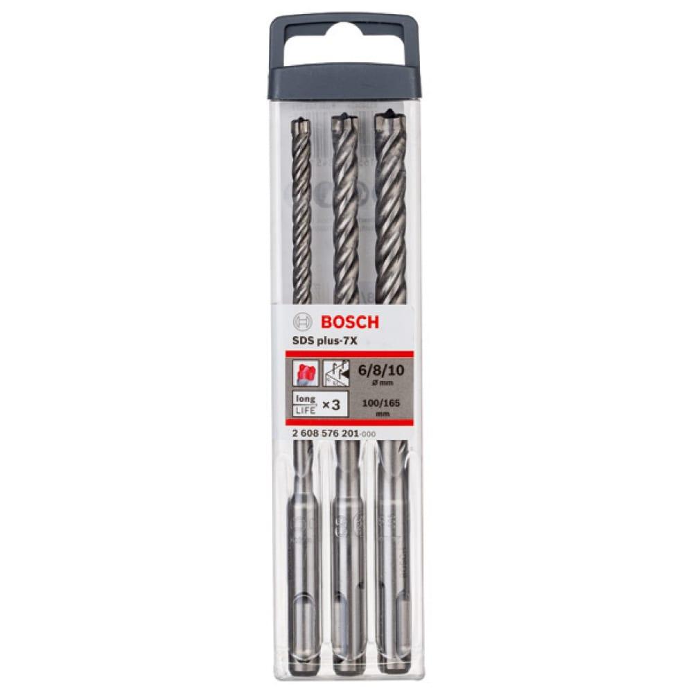 Купить Набор буров по бетону sds-plus-7x (6-10 мм; 3 шт.) bosch 2608576201
