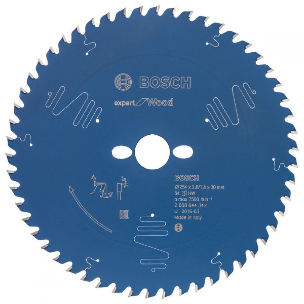 Купить Диск пильный по дереву expert for wood (254x30 мм) bosch 2608644342