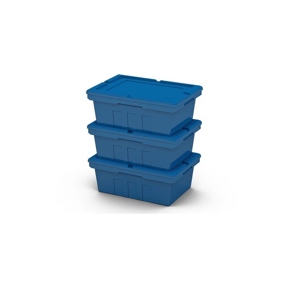 Вкладываемый полимерный контейнер с крышкой пластик система