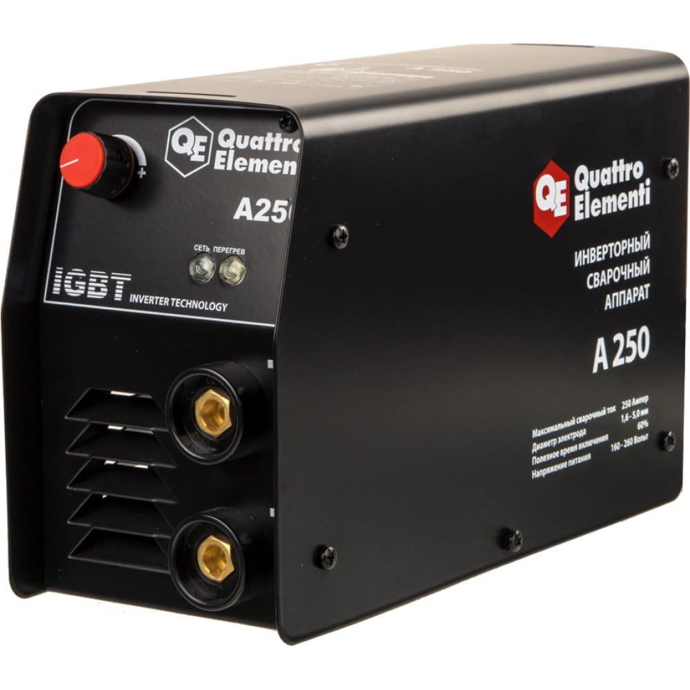 Инверторный аппарат электродной сварки quattro elementi a 250 248-542