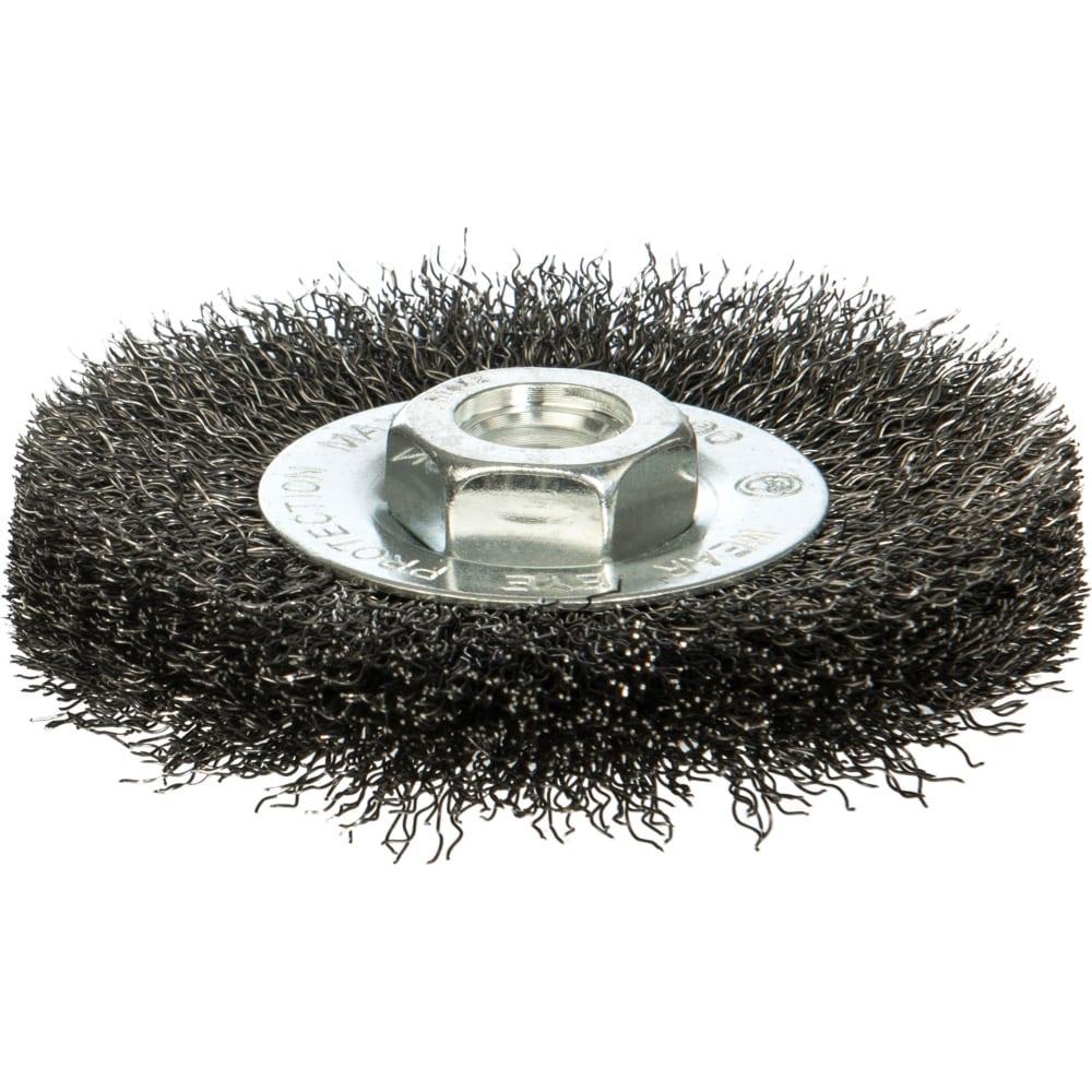 Купить Щетка дисковая цилиндрическая с гофрированной стальной проволокой мастер 071 (100 мм; м14) профоснастка 20107001