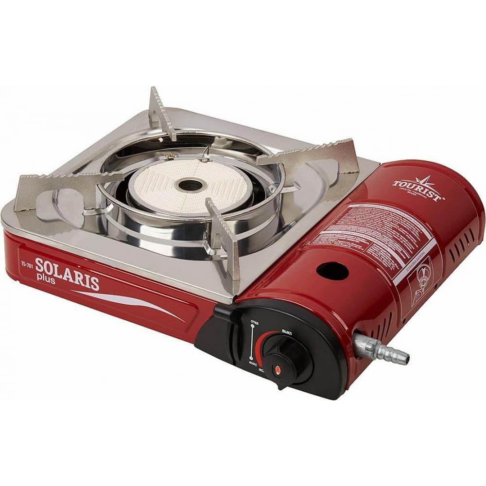 Купить Газовая портативная плита с переходником tourist solaris plus ts-701