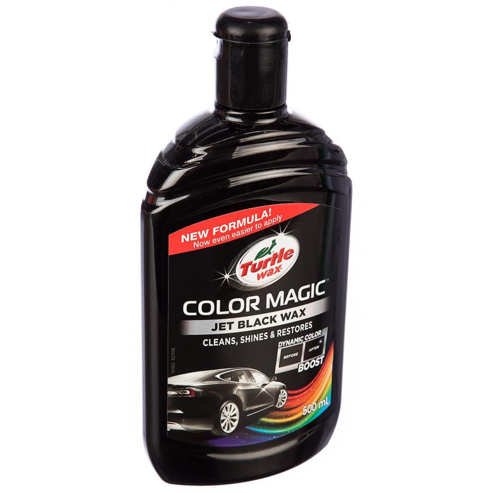 Купить Восковой автополироль (черный) 500 мл turtle wax color magic jet black wax 53237