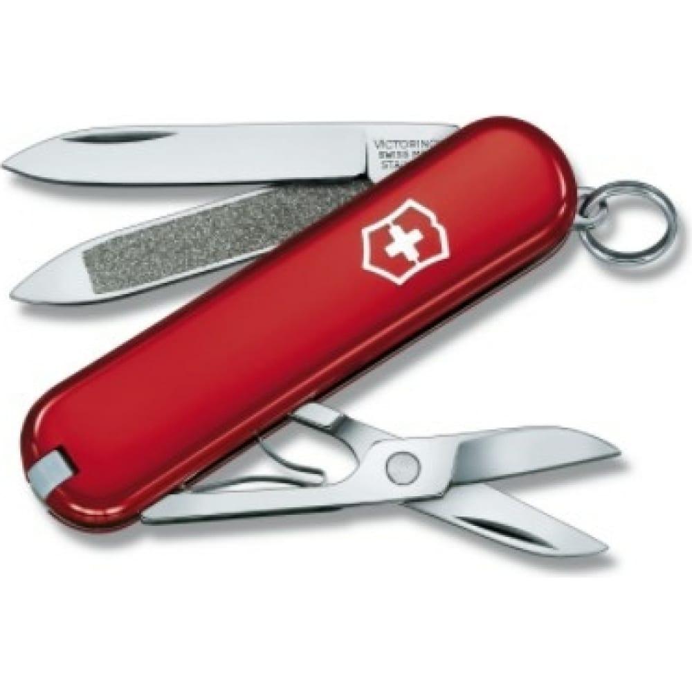 Купить Нож-брелок victorinox classic 0.6203 58 мм, 7 функций, красный