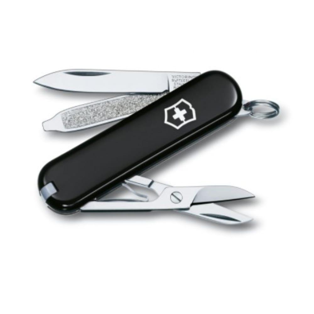 Купить Нож-брелок victorinox classic 0.6223.3 58 мм, 7 функций, черный