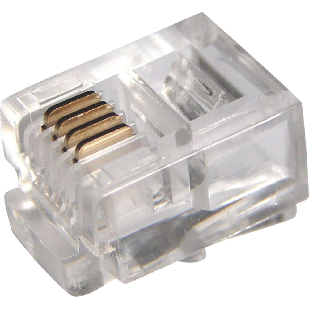Купить Телефонный джек 6p4c, 100шт proconnect 05-1012-3