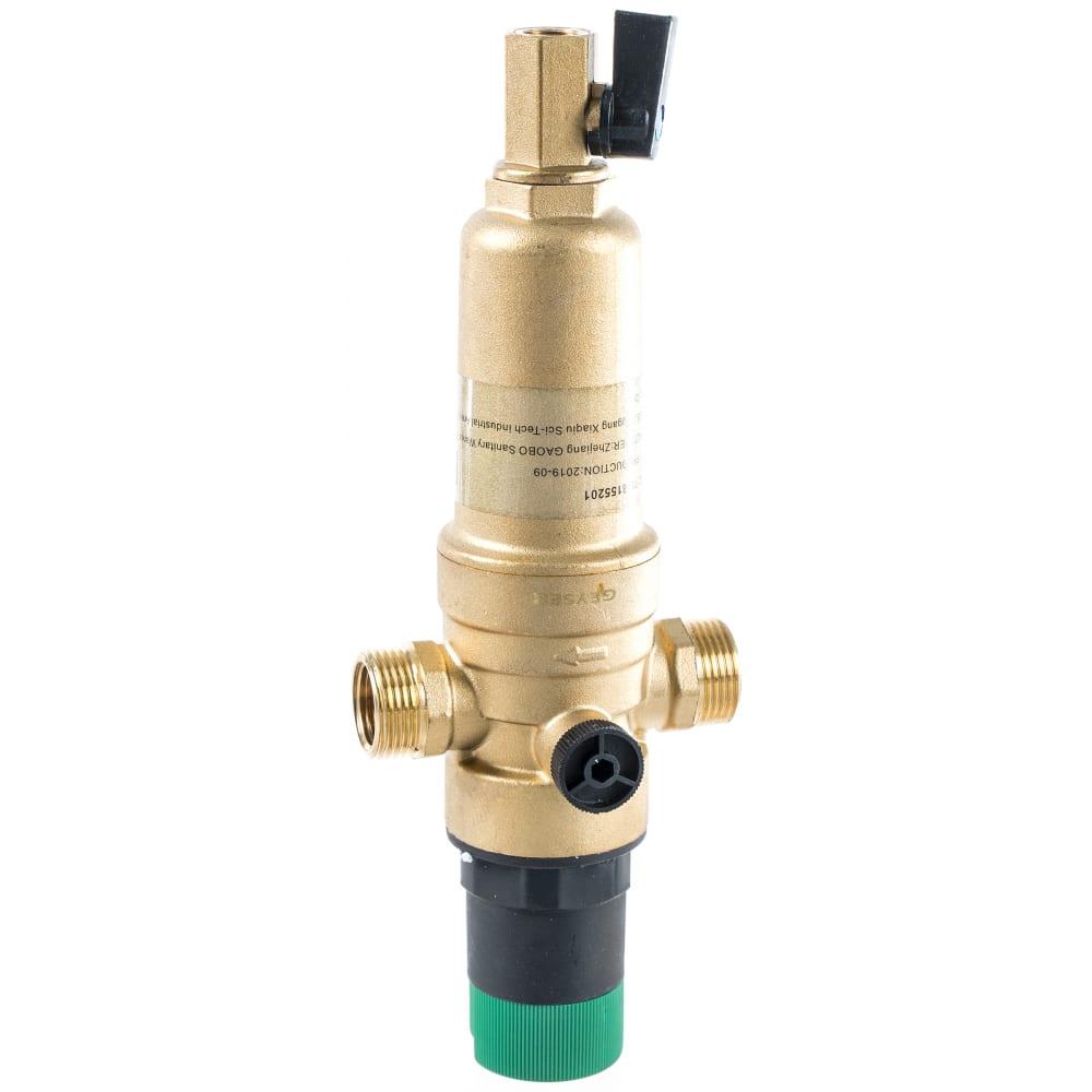 Купить Фильтр 1/2, для горячей воды, с регулятором давления, d52.5 гейзер бастион 7508155201 32682