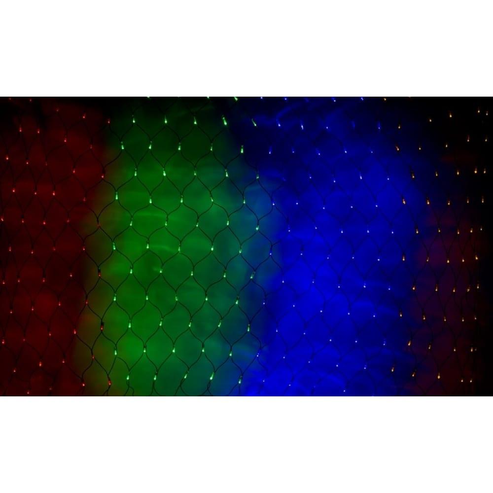 Купить Гирлянда neon-night сеть 2х1.5м, черный пвх, 240led мульти 215-029