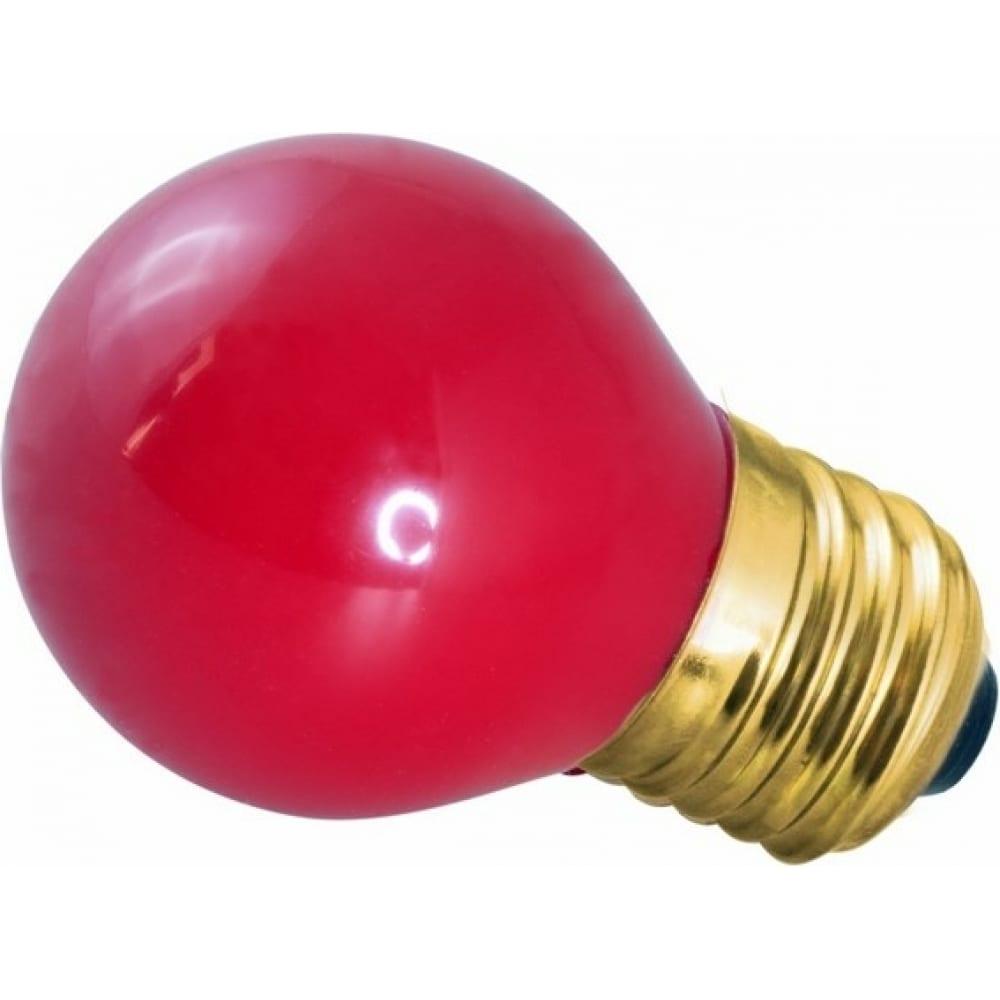 Лампа накаливания neon-night e27 10 вт красная колба для гирлянды belt-light 401-112