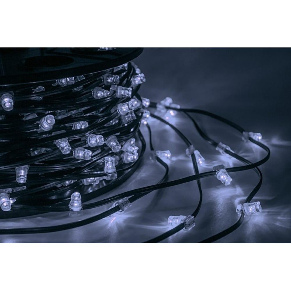 Купить Гирлянда neon-night клип лайт 12в, 100м, шаг 150 мм, 660 led белые, с трансформатором 325-125