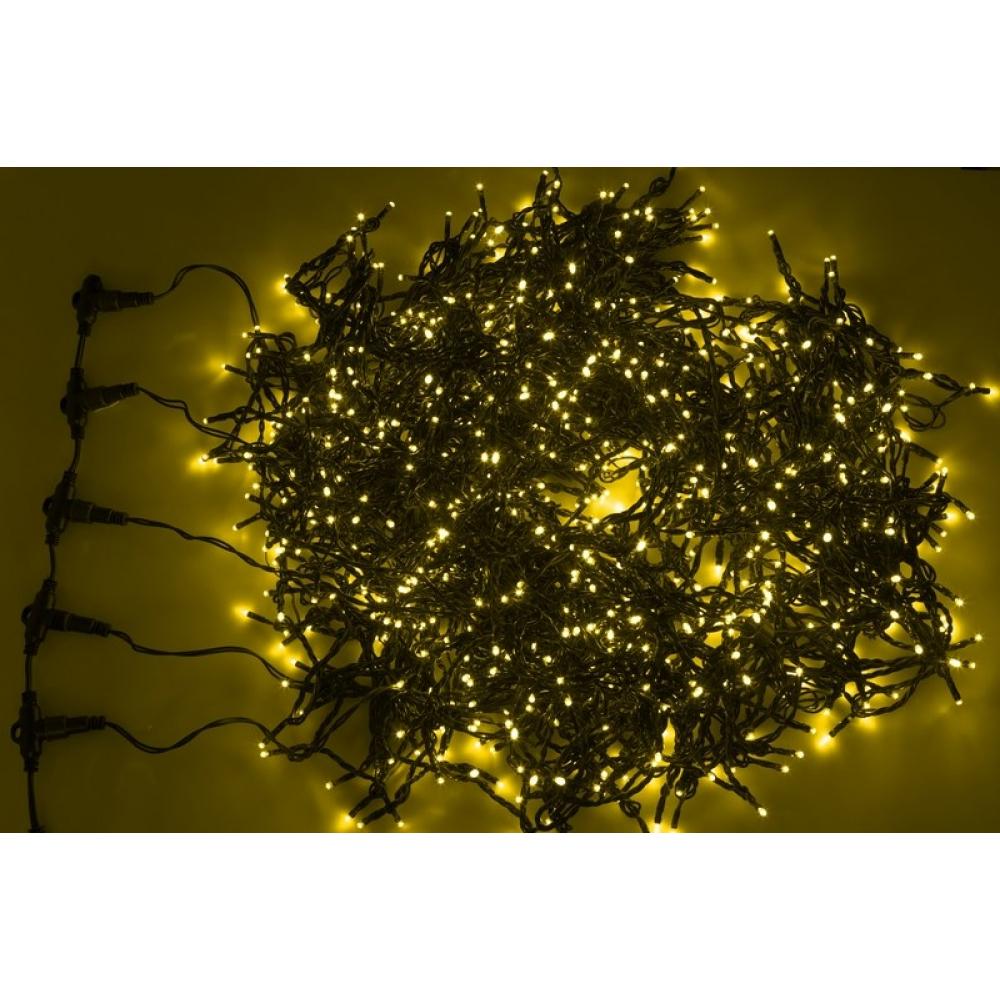 Купить Гирлянда neon-night клип лайт 24в, 5 нитей по 20 м, 665 led желтые 323-501